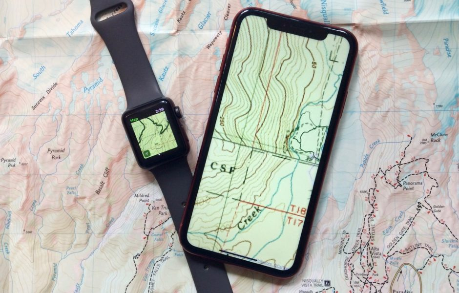 Mapping apps for iPhone and Watch